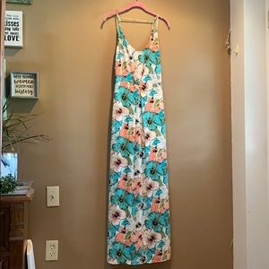 Hibiscus floral maxi dress